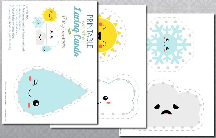 L is for Lacing Cards Free Printable