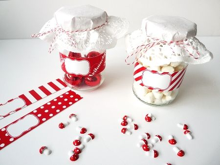 Chritsmas Gift Jar Wrapping Bands www.247moms.com #247moms