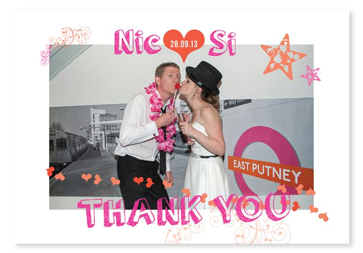 Nicola and Simon had the best colour scheme for their wedding; orange and pink. The wedding stationery was playful and even included design elements from the London Underground. © Paper Wedding 2014