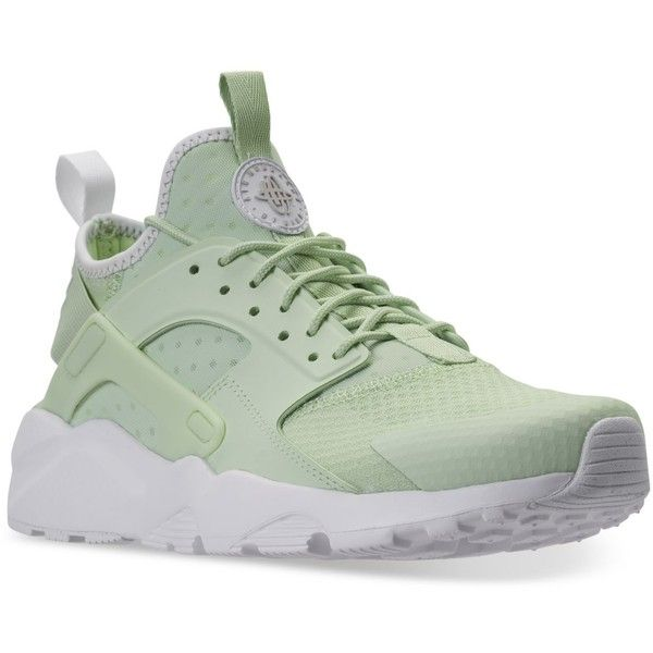 Nike Men's Air Huarache Run Ultra Running Sneakers from Finish Line ($100) ❤ liked on Polyvore featuring men's fashion, men's shoes, mens breathable shoes, mens mesh shoes, nike mens shoes, mens shoes and mens perforated shoes