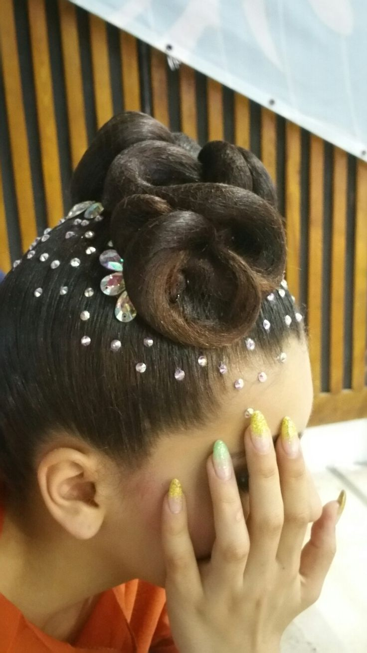Wonderful hairstyle for world championship standard 2016 #Ballroomqueen - Hairstyles for Dancers https://m.facebook.com/Ballroomqueen-Hairstyles-for-Dancers-1173869082646648/