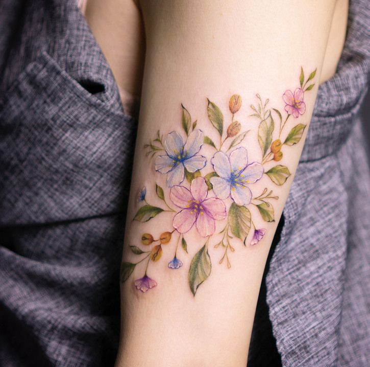 77e83b5e9 60 + stunning floral tattoos for girls and women - The 100 best photographs  ever taken without photoshop