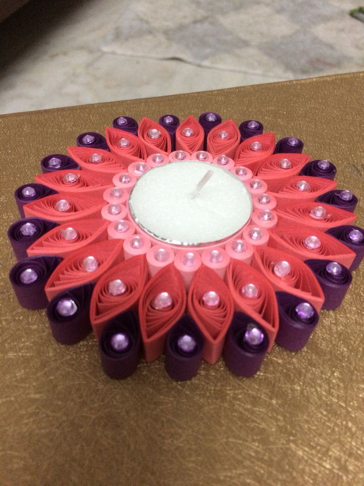 Quilled T lights