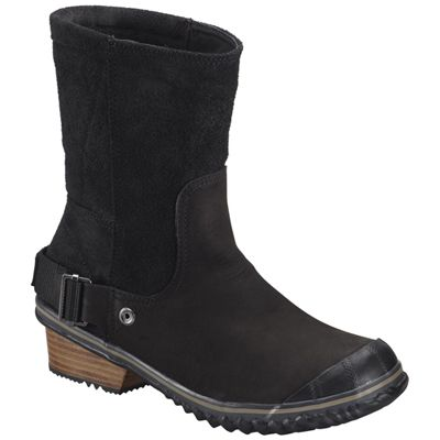 Sorel Black Oxford Tan Slimshortie Tumen Women Boot ! Buy now at GetShoes.ca