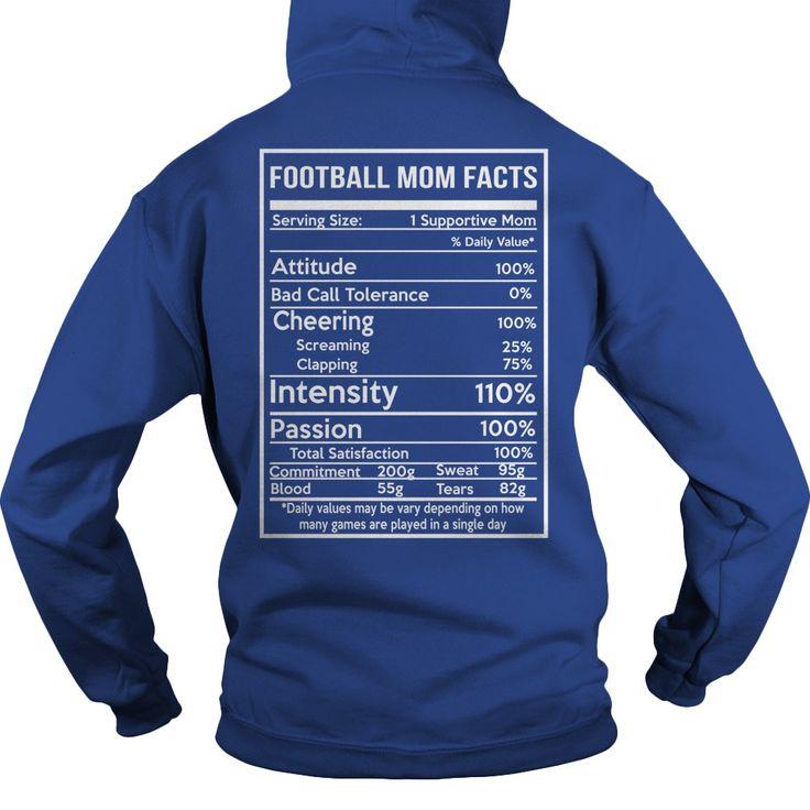 Football mom facts Tshirt Football mom, Chef shirts