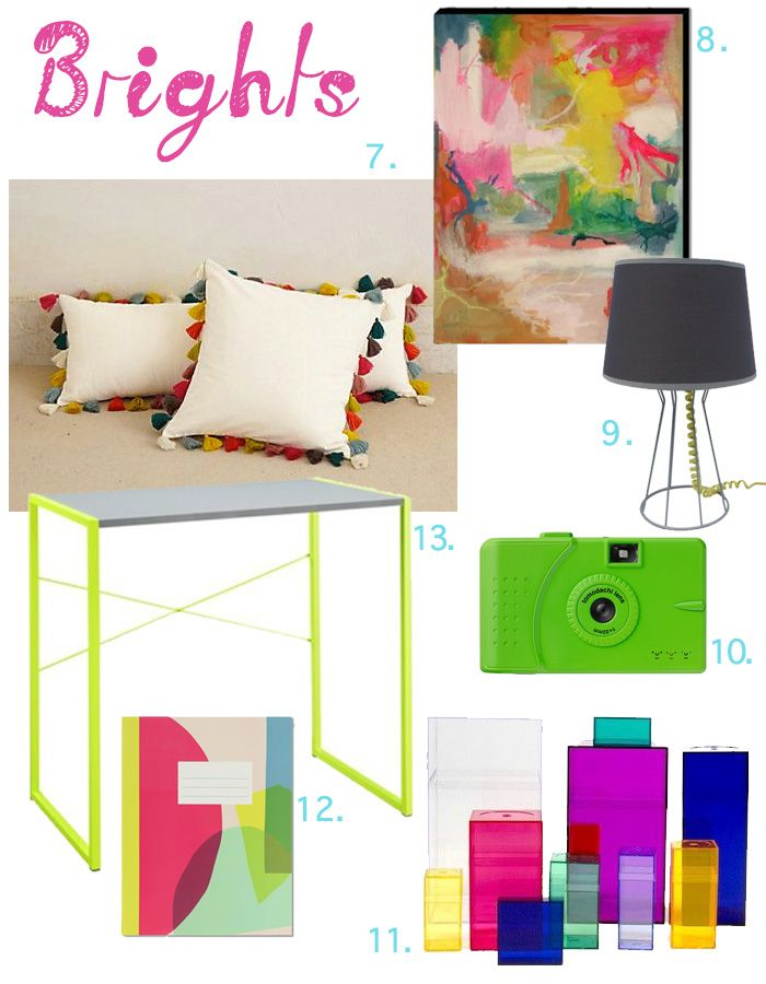 Dorm Room Round Up: Brights