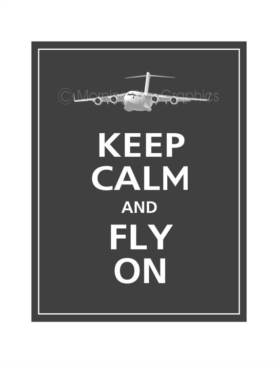 "Are you a lover of the ""Keep Calm"" signs? This one is perfect for a pilot or his family!"