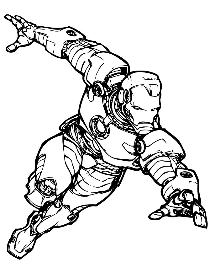 marvel iron man coloring pages  superhero coloring