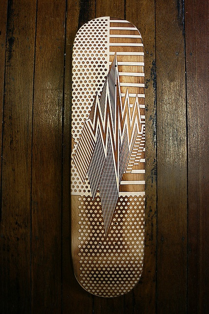amazing etched skateboard deck: Carving into the wood or a deck can not be cheep. This is a board for someone's collection rather than a skater's feet.