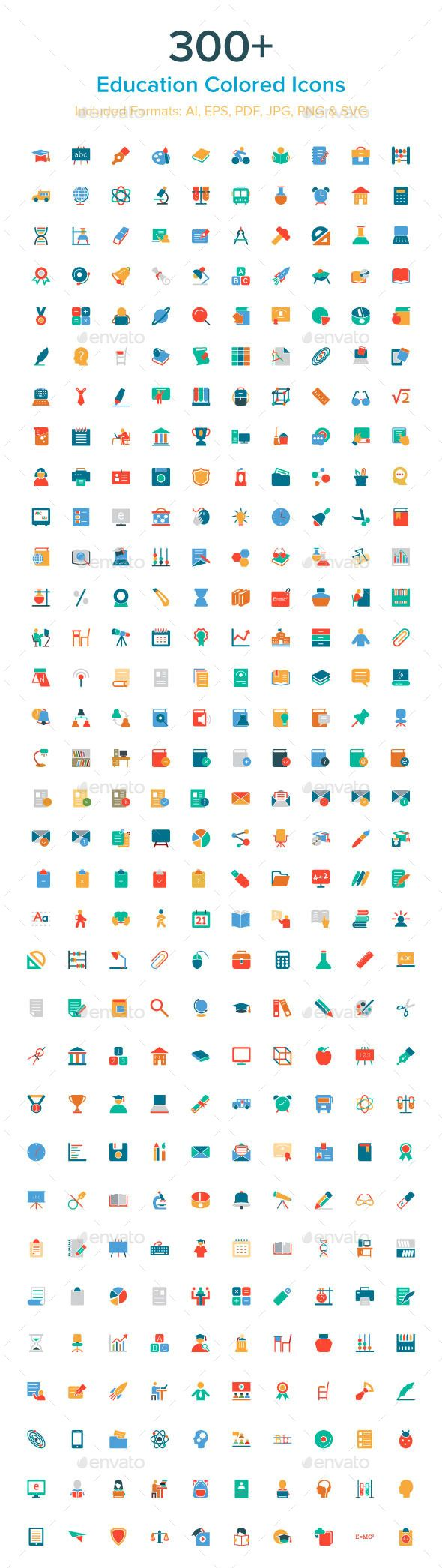 300+ Education Colored Icons — Transparent PNG #education vector icon set #education clipart • Available here → https://graphicriver.net/item/300-education-colored-icons/10485602?ref=pxcr
