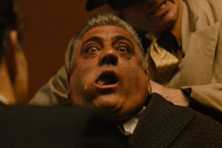 Little known fact: Brasi was a pro at dying. Lenny Montana utilized some of his prol wrestling skills during his death scene. He was able to use techniques he had learned to make his bulging, bug-eyed face nearly purple while being garrotted.