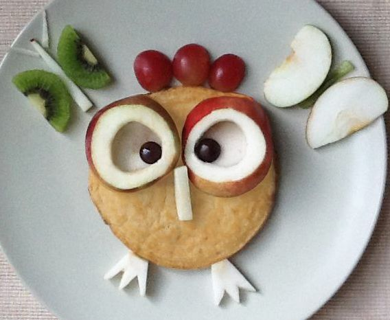 sweet fruit owl - super cute 7 looks so much easier than a lot of the fun kids meals