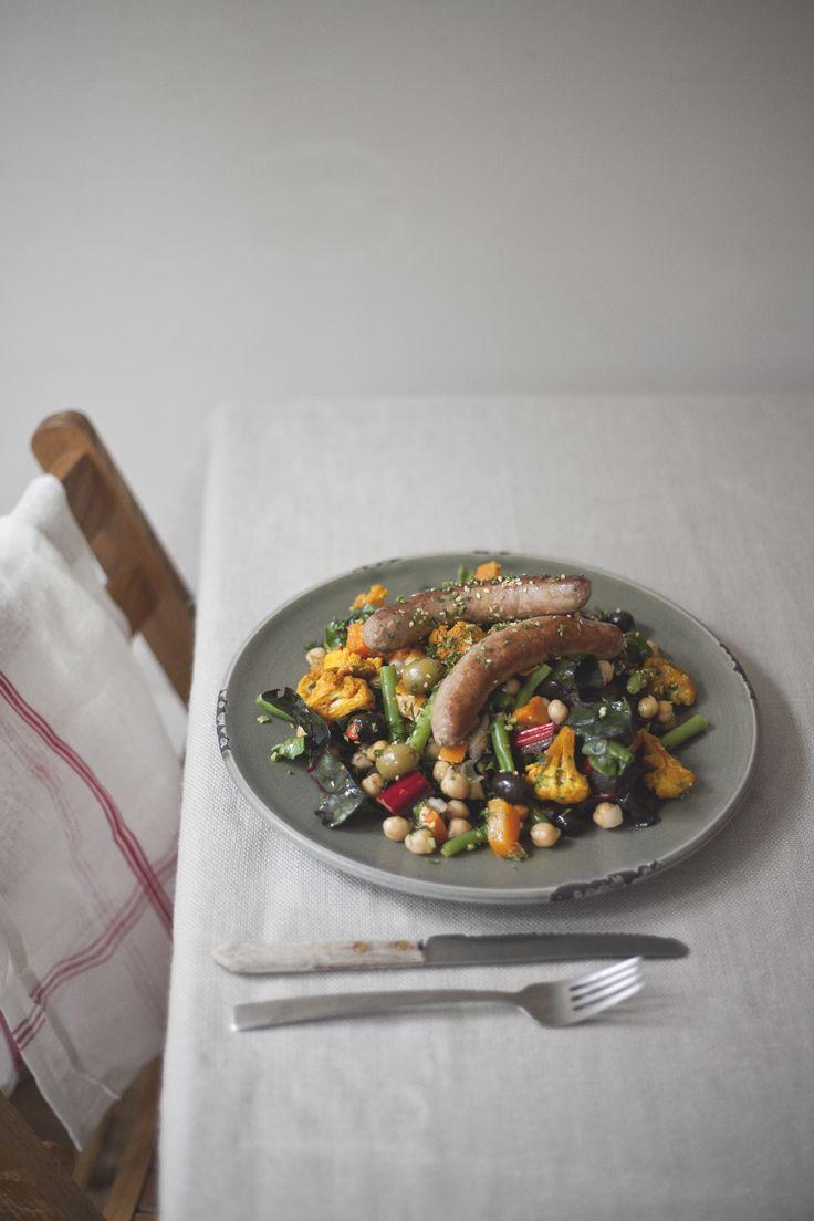 merquez sausage salad // spring menu // by Wij Zijn Kees // www.ilovesla.com