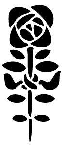 Szablon malarski  flora 330