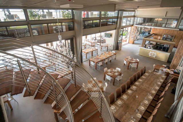 Restaurant at Shimmy Beach Club, with ocean views, overlooking the private beach. Seats 220 pax. Email functions!shimmybeachclub.co.za. Cape Town Waterfront venue