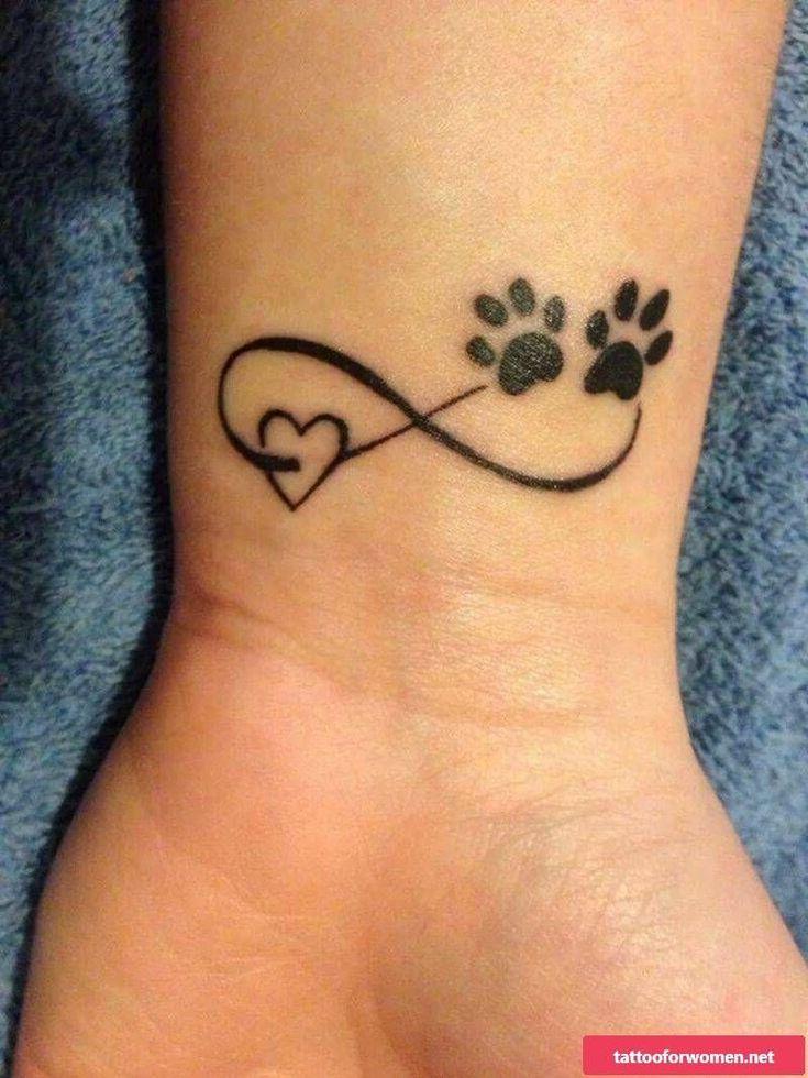 Infinity sign tattoo wrist black heart bear paw #wristtattoos