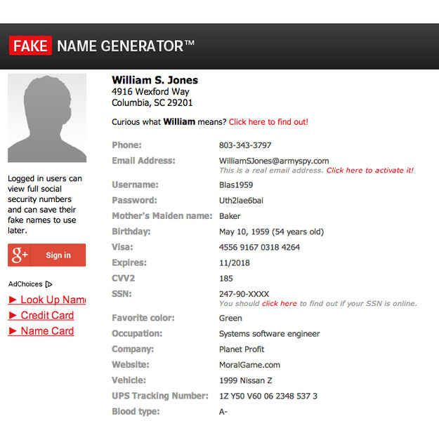 Fake Name Generator | 33 Amazingly Useful Websites You Never Knew Existed-For when you need a whole new identity. Get yours @ fakenamegenerator.com I'm not sure exactly how I could make good use of this but something tells me it might come in handy somehow...