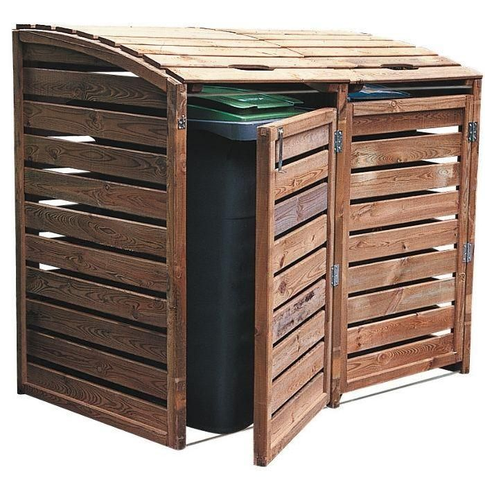 40 best cache poubelles images on pinterest outdoor projects backyard ideas and garden ideas. Black Bedroom Furniture Sets. Home Design Ideas
