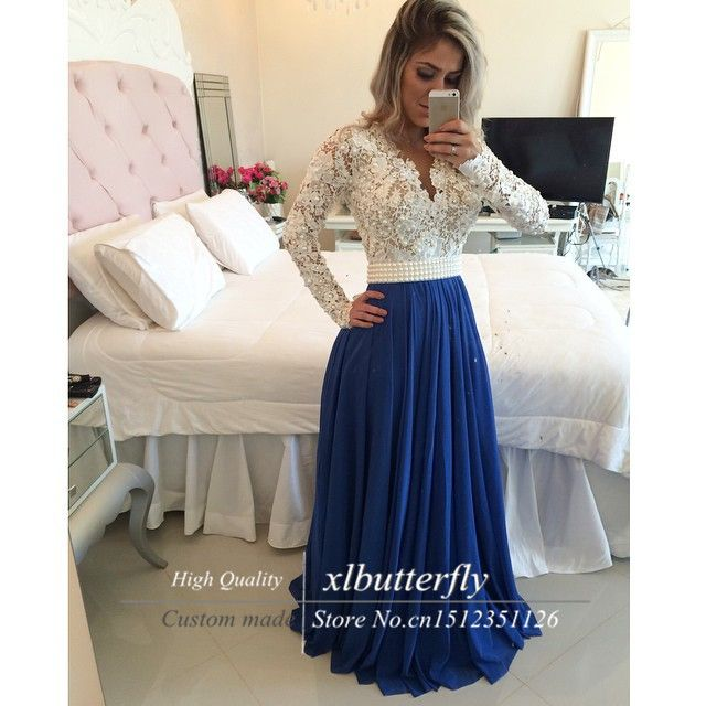 Find More Evening Dresses Information about Vestidos de noche Beaded Lace Bodies Sexy Long Evening Dress with Long Sleeves Wedding Party Dresses for Special Occasion,High Quality dress up princess dress,China dresses for larger ladies Suppliers, Cheap dress asymmetrical from xlbutterfly on Aliexpress.com
