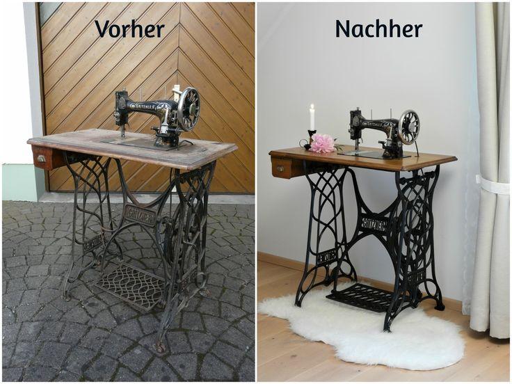 die besten 25 n hmaschinentisch ideen auf pinterest. Black Bedroom Furniture Sets. Home Design Ideas