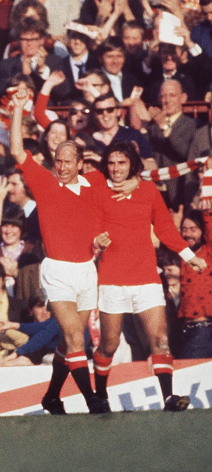 Bobby Charlton Manchester United's all time top goal scorer and George best 5th top goal scorer.