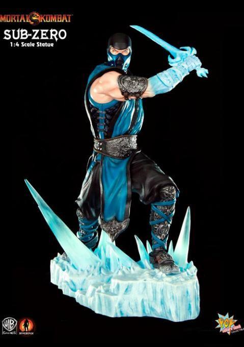 Estatua Sub-Zero Ice Sword, Mortal Kombat 9. Pop Culture Shock, 45cm  Estatua de 45cm del personaje de Sub-Zero, perteneciente al videojuego Mortal Kombat 9, creada por Pop Culture Shock.