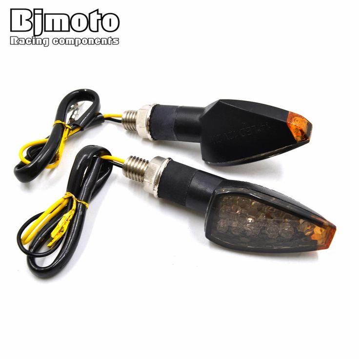 2 PCS Universal Motor Super Terang 14 LED Turn Signal Lampu Indikator Blinker Amber Lampu Mudah untuk Menginstal