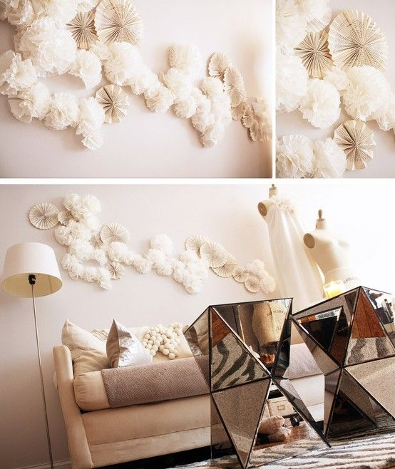 Anthropologie inspired wall art using coffee filters and book pages:)