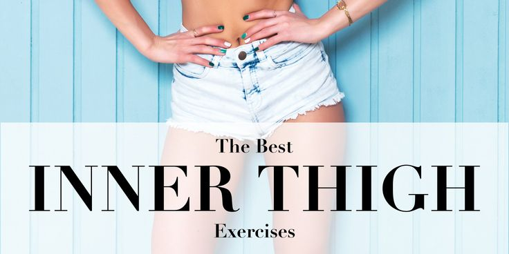 Top 10 exercises for slim, tight and sculpted inner thighs! Slim inner thighs aren't built in a day. It takes a lot of cardio, all the right moves and the perfect amount of persistence to get strong, fit thighs that look fabulous! Show your inner thighs some love with these 10 exercises and get your dream legs in no time!