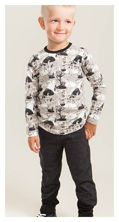 FREE BOYS LONG SLEEVE SHIRT PATTERN /  Sizes: 62/68 – 146/152 Difficulty level: Simple Material recommendation: NOSH Cotton Jersey