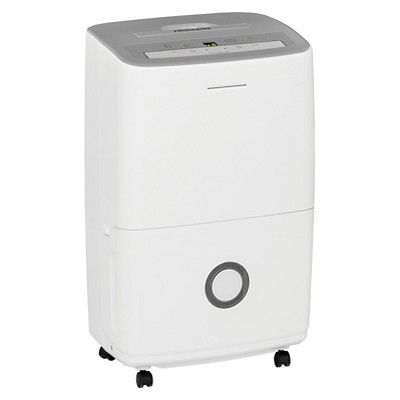 Frigidaire - 50 Pint Dehumidifier with Humidity Control - White/Grey