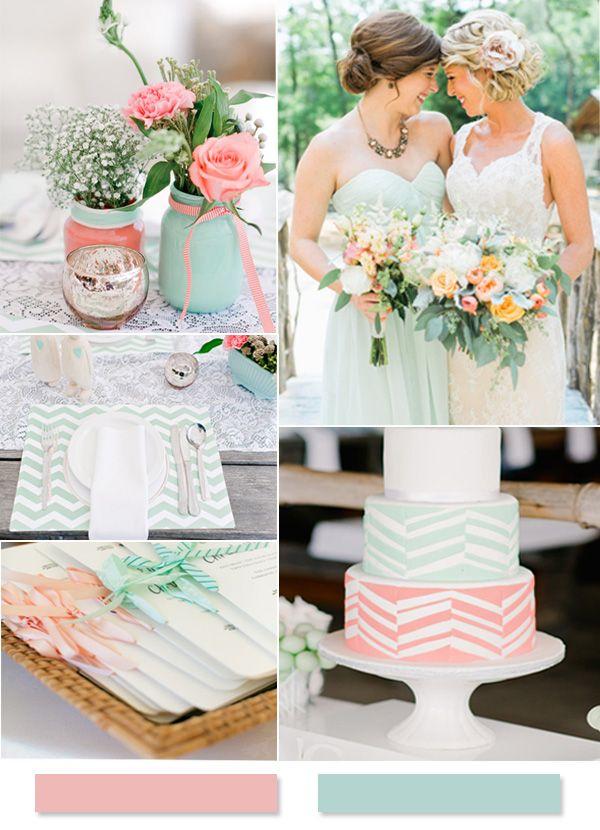 2015 Top 7 Hot Summer Wedding Color Schemes -InvitesWeddings.com
