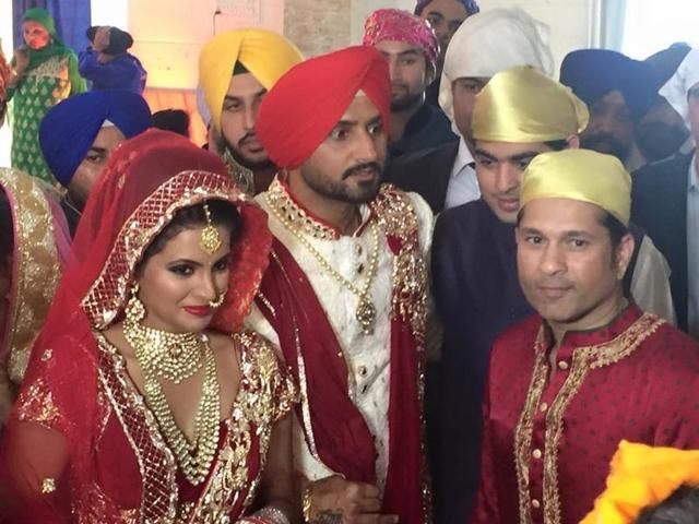 Harbhajan Singh takes the wedding plunge with Geeta Basra : Check out marriage day shoot