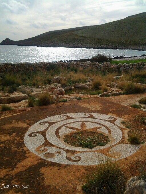 Greece.... Roman Mosaic floor cape Tainaron in Autumn - Mani Peninsula