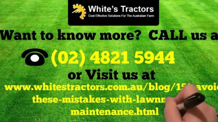 Learn more about the Mistakes with Kubota Lawnmower Maintenance at http://www.whitestractors.com.au/machinery/mowers.html.