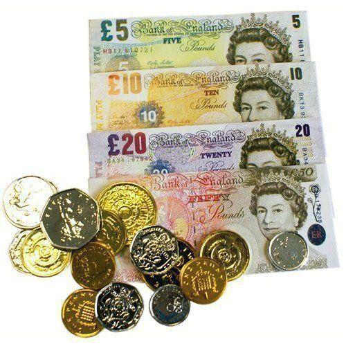 Kids Fake Money Children Cash £ Pound Notes Coins Pretend Play Toy Shop Game   #Unbranded