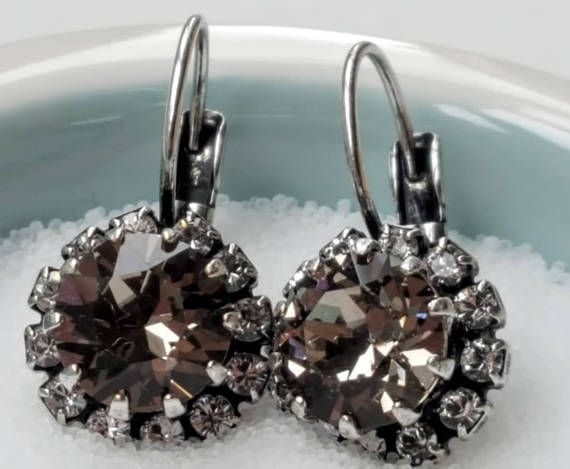 Check out this item in my Etsy shop https://www.etsy.com/ca/listing/519794644/swarovski-crystal-earringblack-diamond