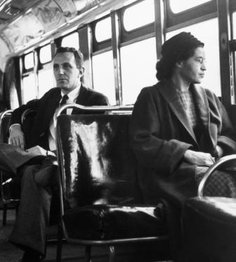 """""""I have learned over the years that when one's mind is made up, this diminishes fear; knowing what must be done does away with fear."""" -- Rosa Parks"""