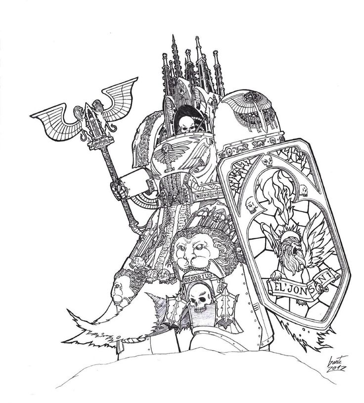 вархаммер рисунки рыцарь человека