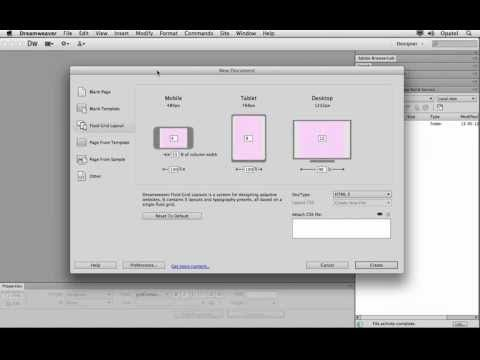 how to create a responsive website in dreamweaver cs6