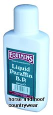 Equimins Liquid Paraffin B P A useful product for your first aid kit.
