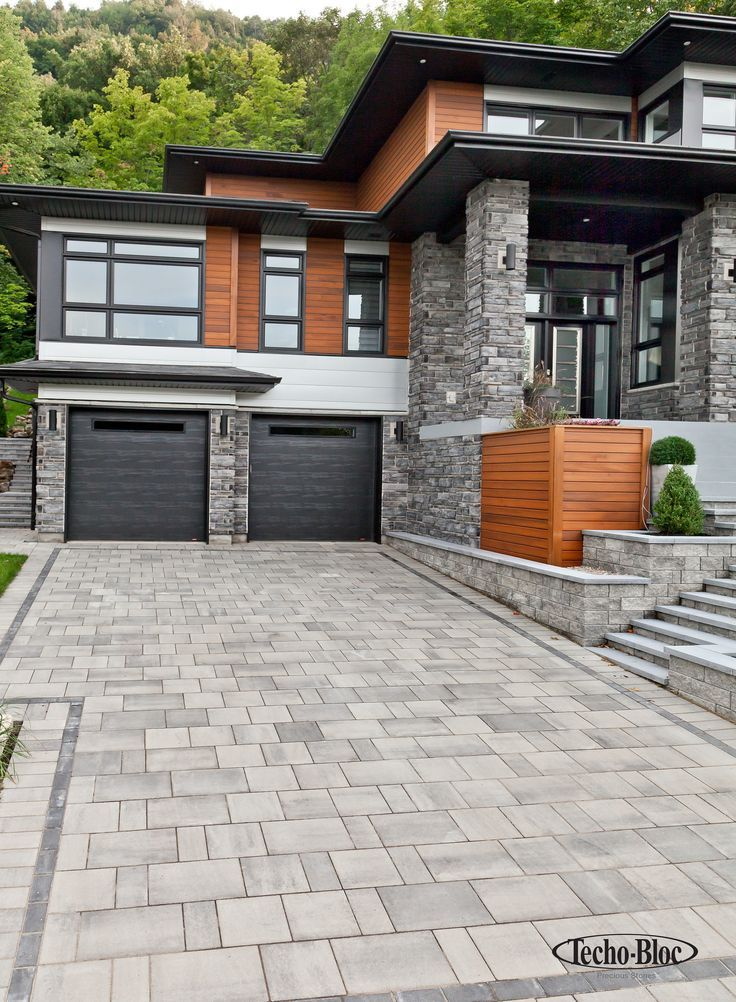 Driveway to the Blu paving stone of Techo-Bloc; More ideas can be found at our …