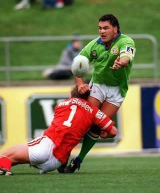 THE GREATS: Canberra Raiders prop John Lomax, one of the top four props ever at the club.