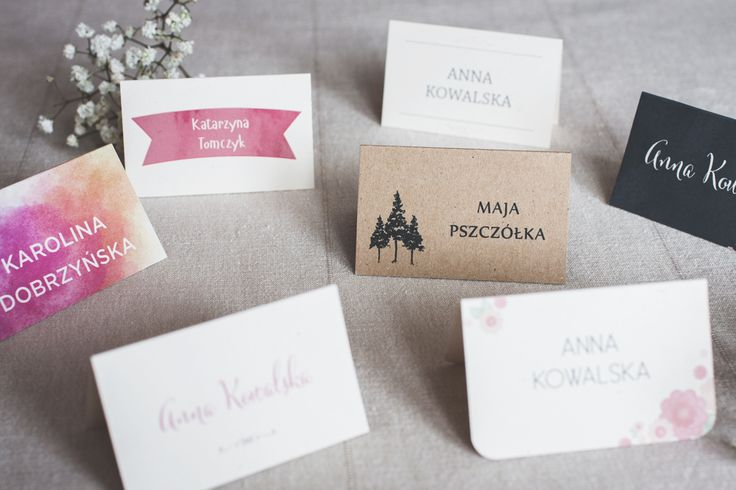 http://cudowianki.pl/winietki-2/  Wedding place cards by Cudowianki. | Winietki by Cudowianki.