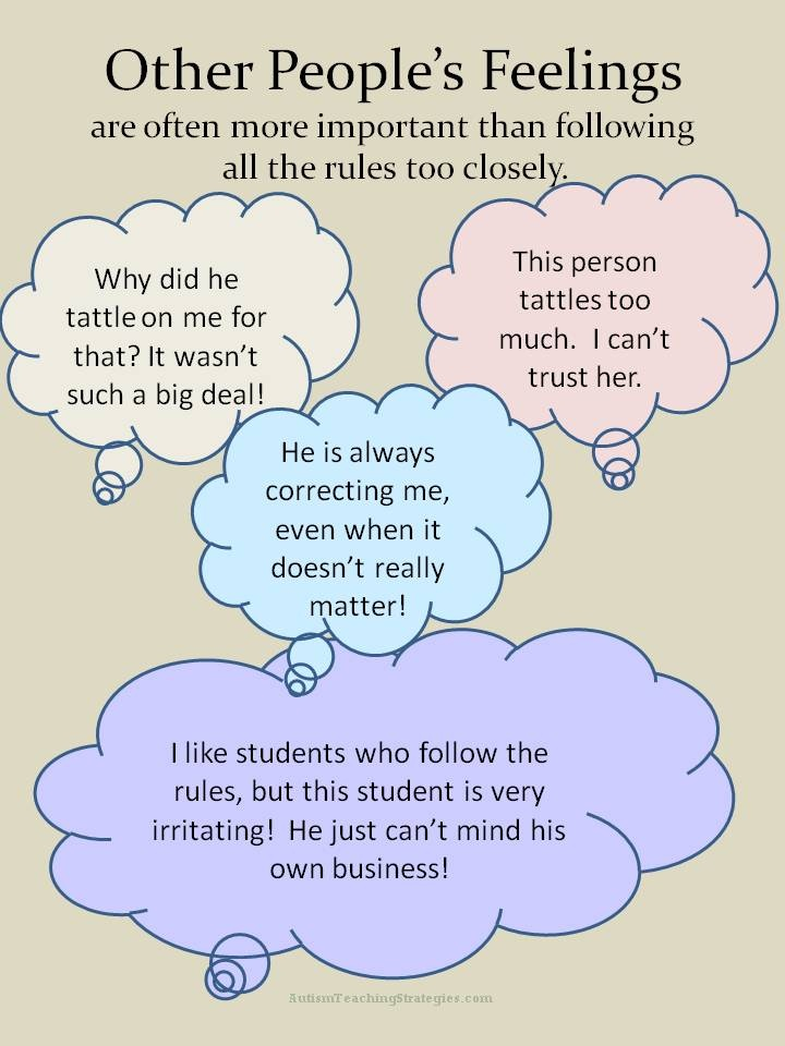 Correcting others and tattling too much: Social skills activities to teach kids with autism who have these problems