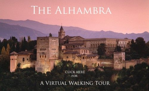 """Walking Tour of The Alhambra from Islamic Art.org. This site allows the user to """"tour"""" the Alhambra through images, exploring the layout as if s/he is there in person.  This tour helps convey the sense of """"weightlessness"""" that symbolic of Islamic architecture. http://islamic-arts.org/2011/the-alhambra-a-virtual-walking-tour/ Dec. 26, 2011 Accessed:  July 14, 2014"""