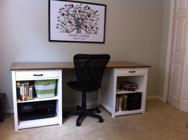 136 best office tutorials images on pinterest woodworking desk office desk do it yourself home projects from ana white solutioingenieria Gallery