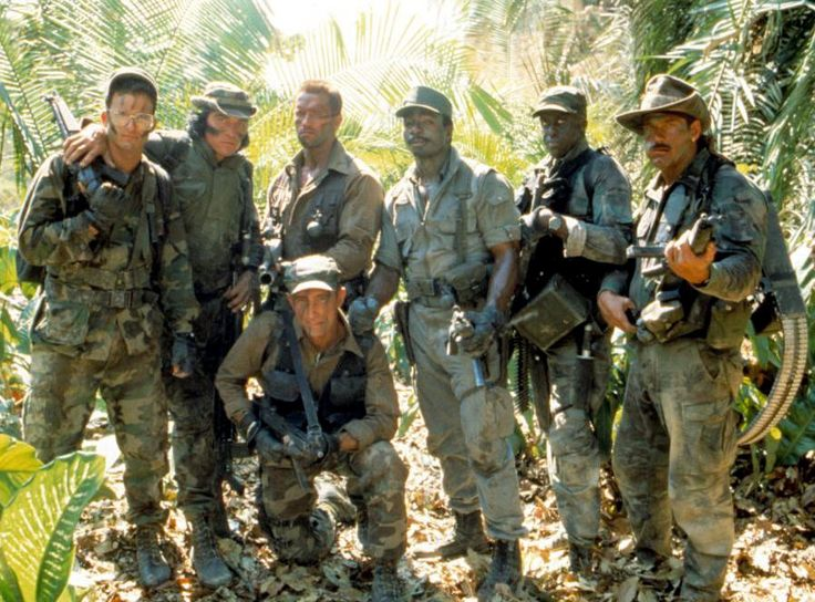 On the set of PREDATOR, 1987