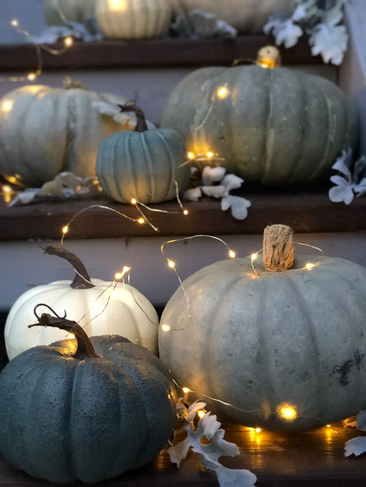 pretty fall porch love the grey blue pumpkins fall on favorite diy fall decorating ideas add life to your home id=26221
