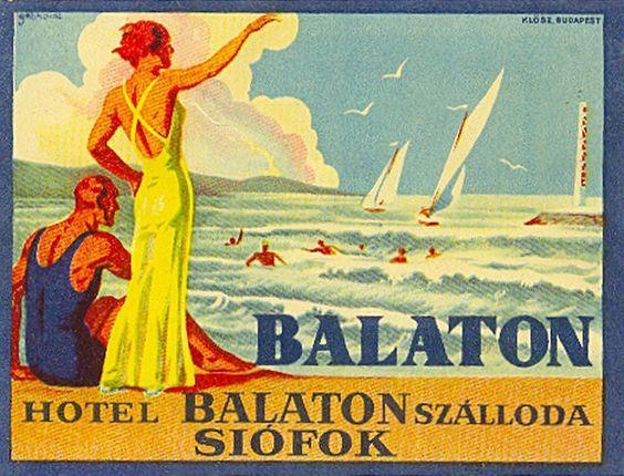 Balaton retro plakat18 poszter hirdetes BALATON.travel